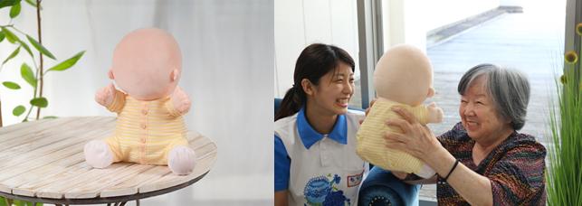 高齢者と赤ちゃん型ロボットのふれあい効果はどれくらい?